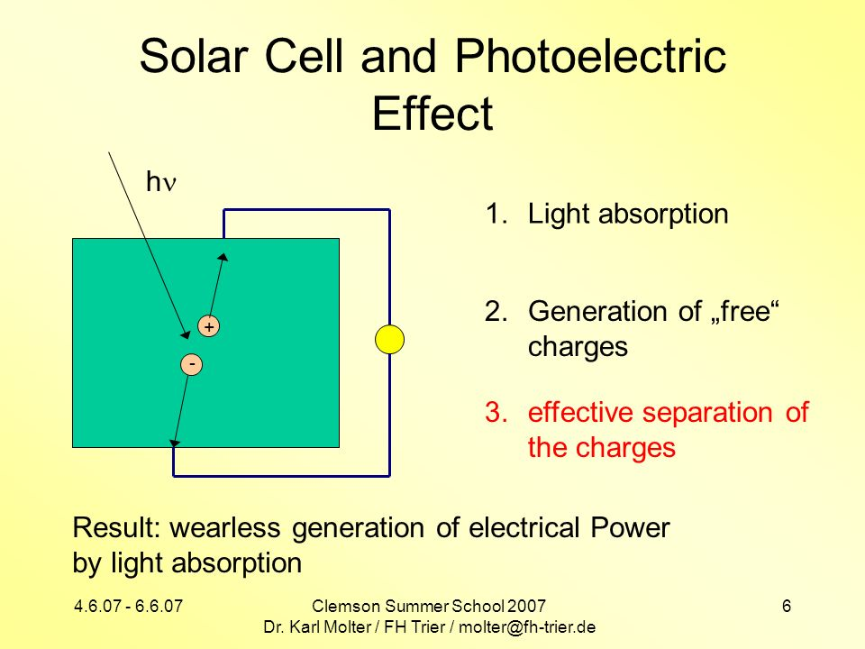 Solar Cell and Photoelectric Effect