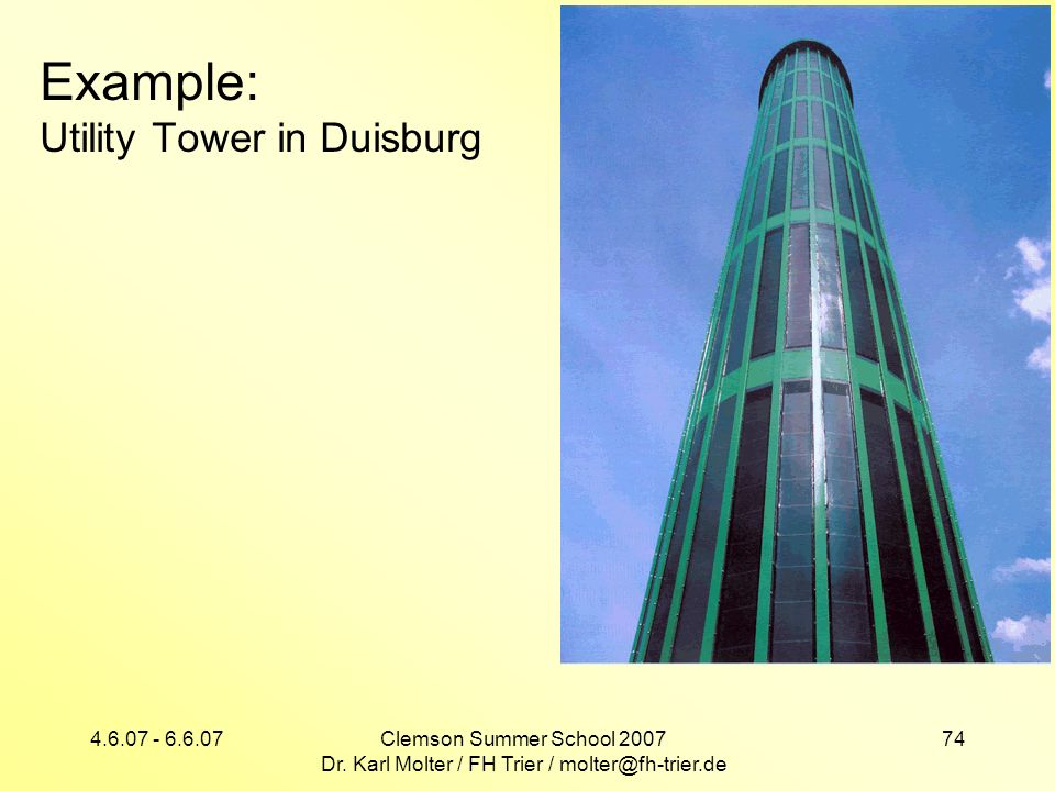 Example: Utility Tower in Duisburg