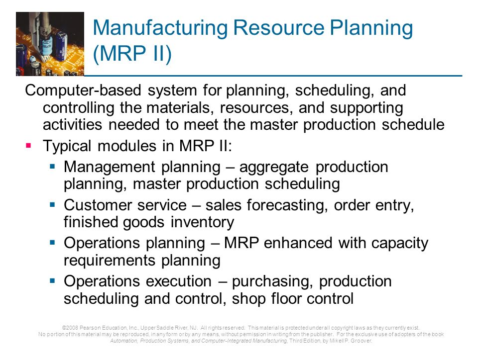 Ch 25 Production Planning And Control Ppt Download