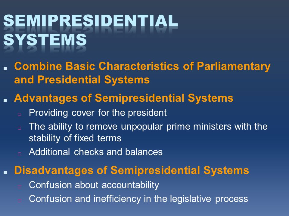 what is a semi presidential system