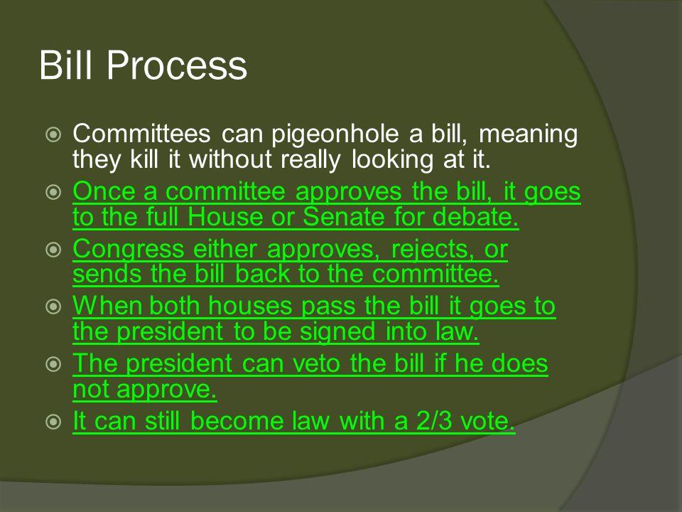 pigeonhole congress