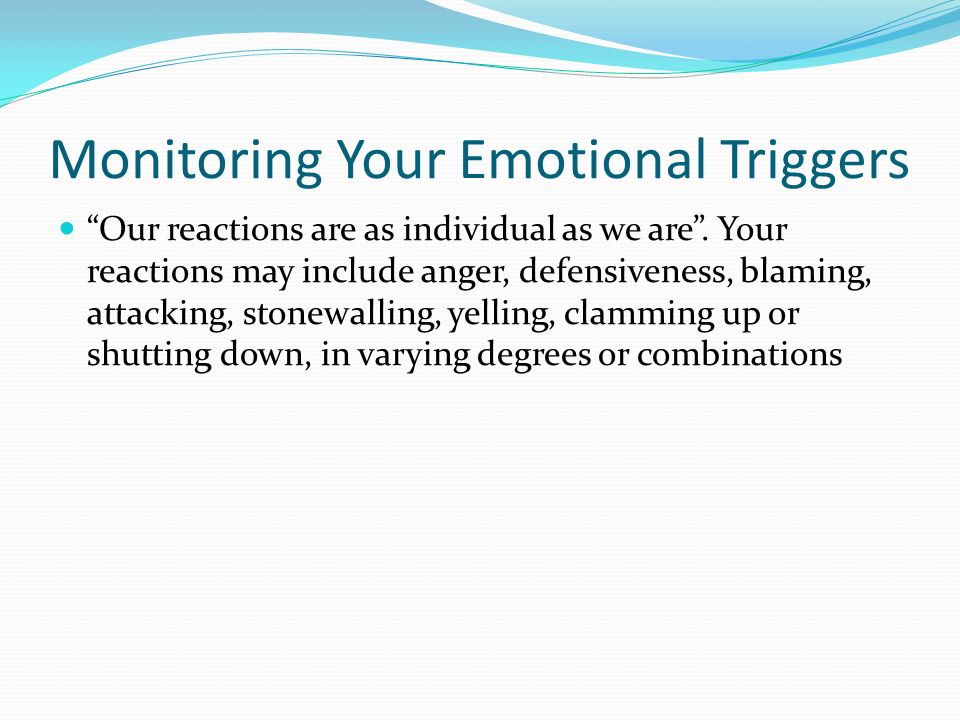 how to find your emotional triggers