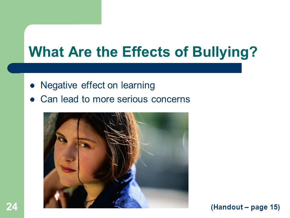 What Are the Effects of Bullying