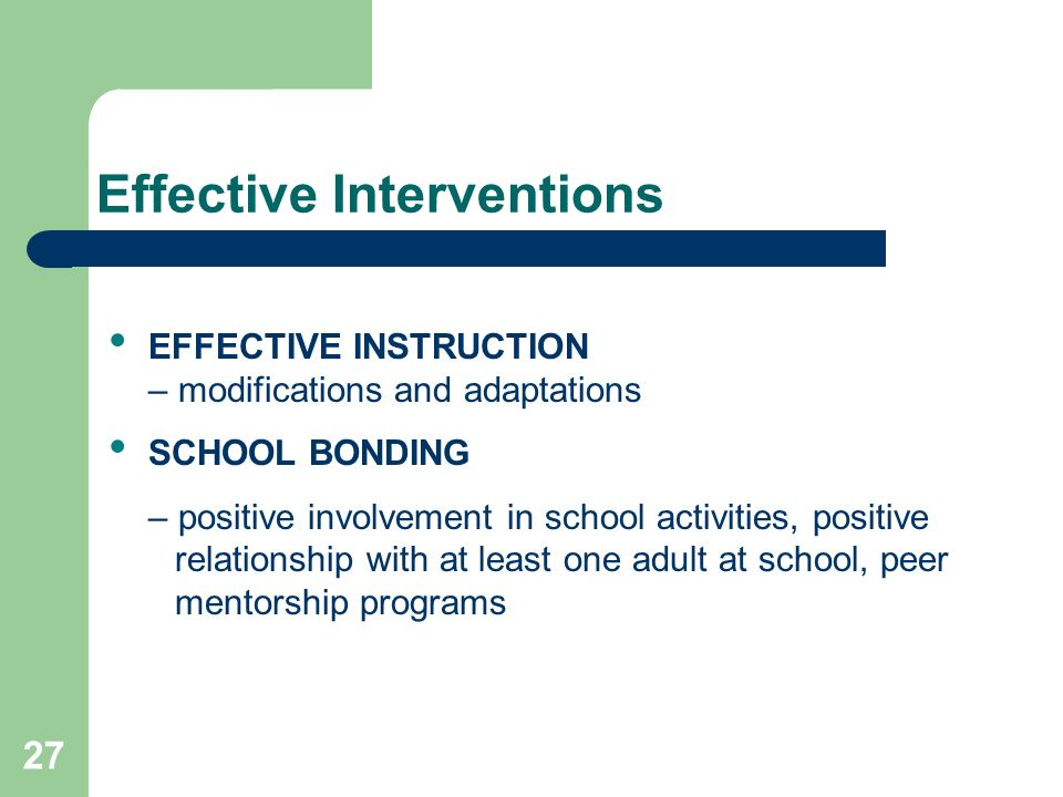 Effective Interventions