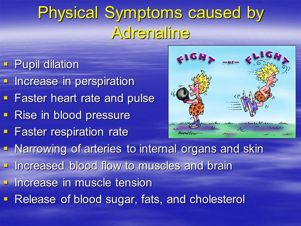 Physical Symptoms caused by Adrenaline