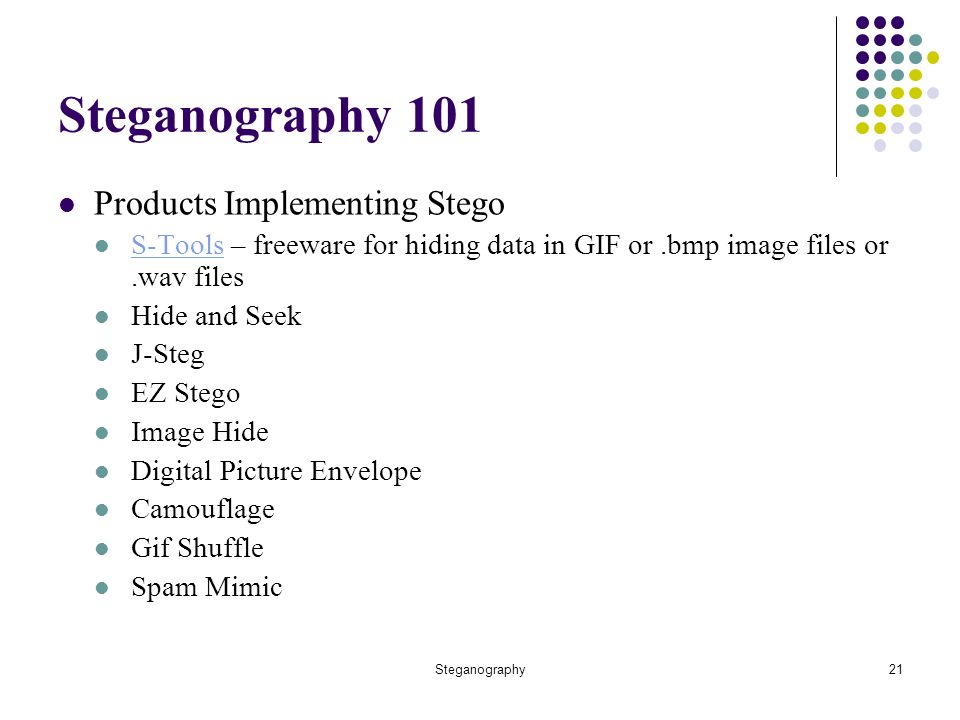 Steganography The Art of Covert Communication Presented by