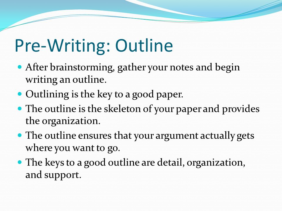 how to compose an outline