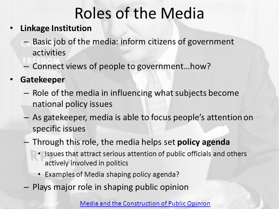 media shaping public opinion