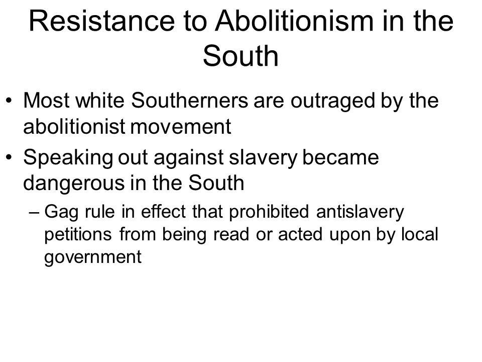 what was an effect of the abolitionist movement