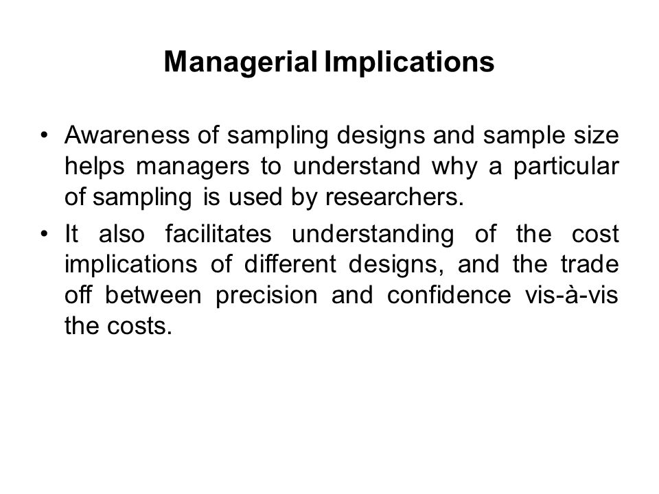 managerial implications examples
