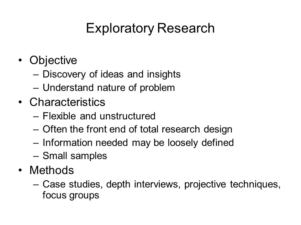 exploratory research example