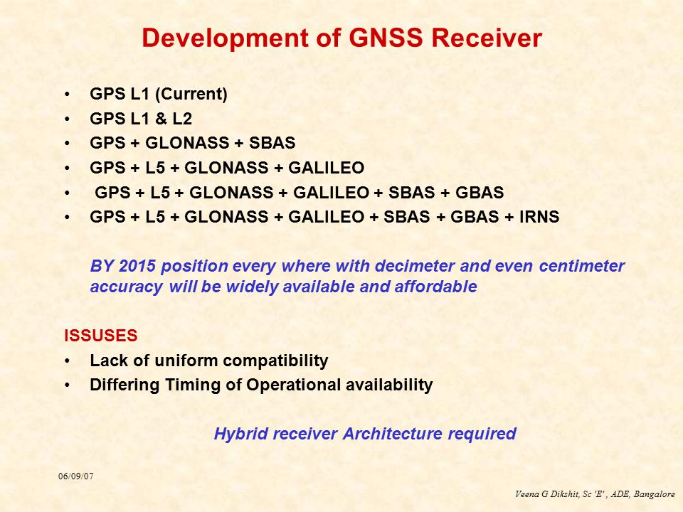 Development of GNSS Receiver