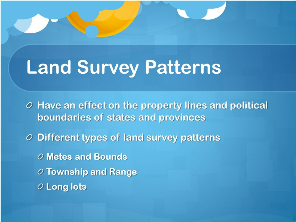 types of land surveys real estate ap human geography notes unit 1 ppt download 7798