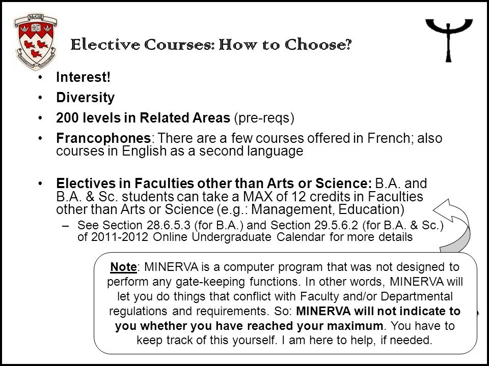 Elective Courses: How to Choose