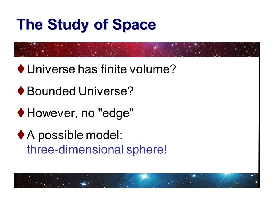 The Study of Space Universe has finite volume Bounded Universe