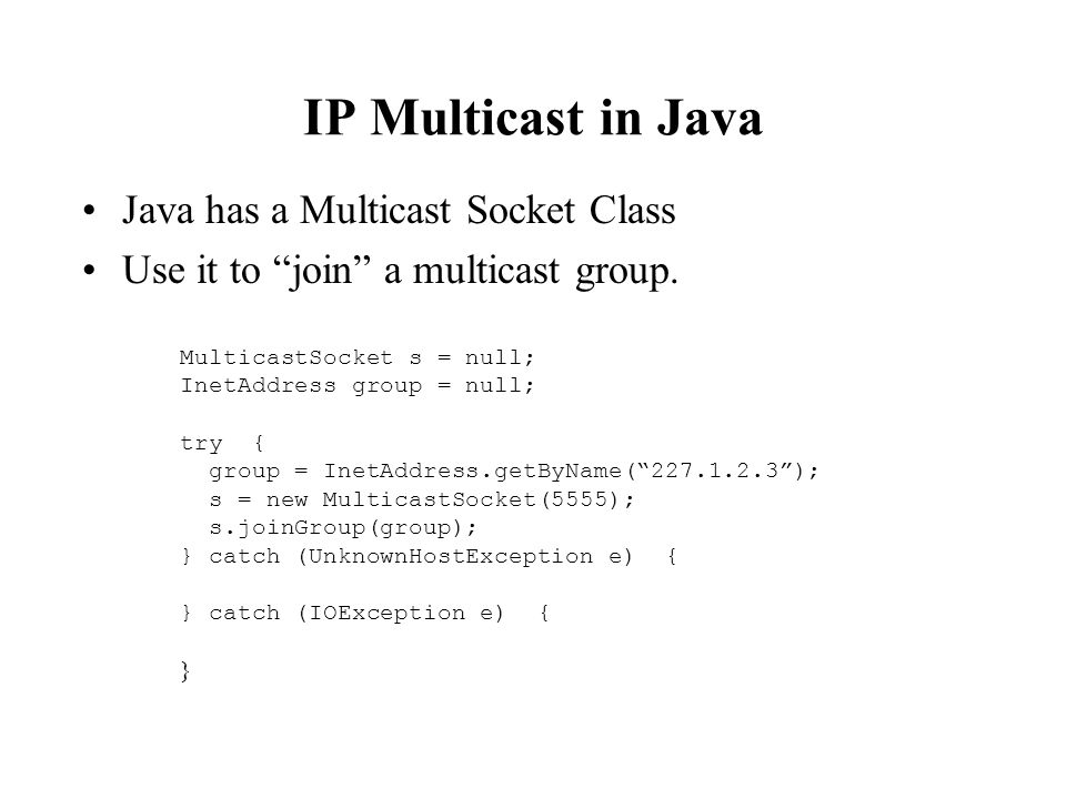 Multicast Sockets What is a multicast socket? - ppt download