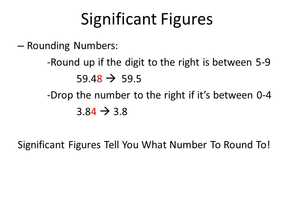 Significant Figures Rounding Numbers: