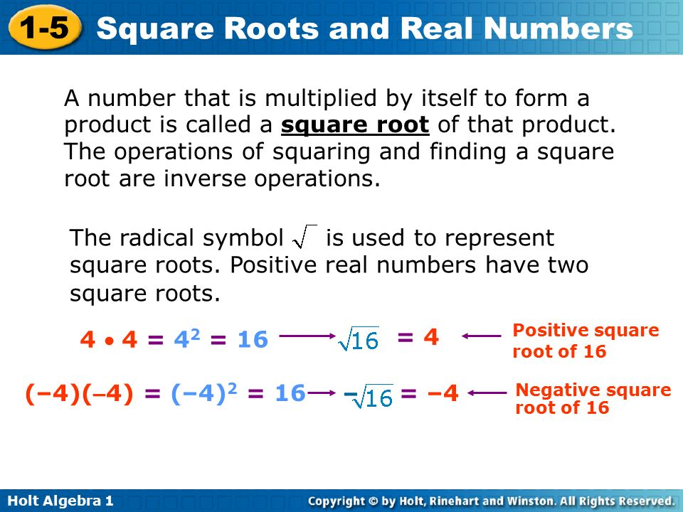 A number that is multiplied by itself to form a