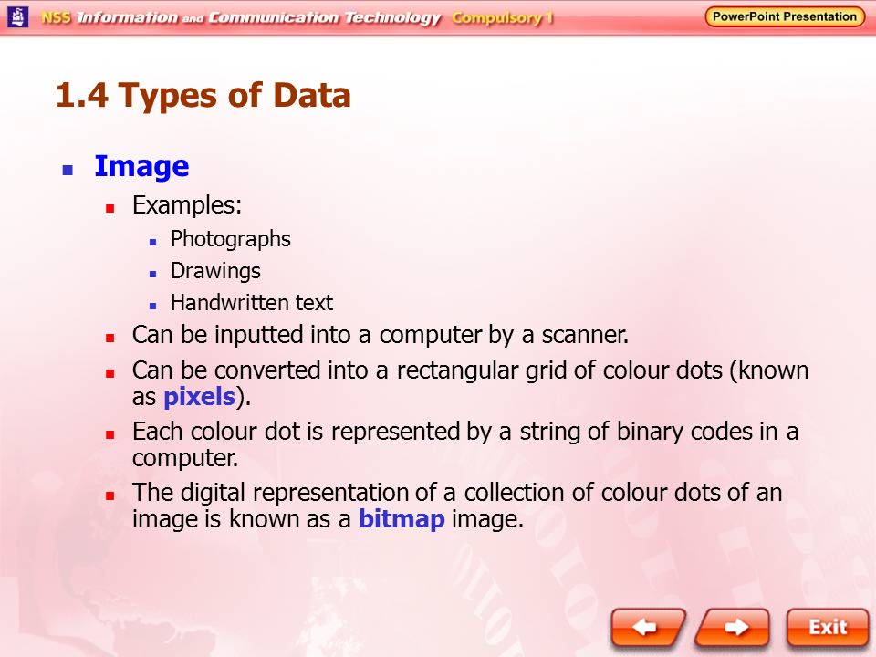 1.4 Types of Data Image Examples: