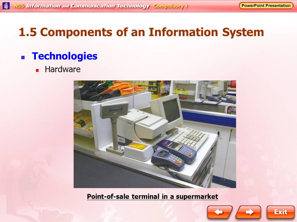 Point-of-sale terminal in a supermarket
