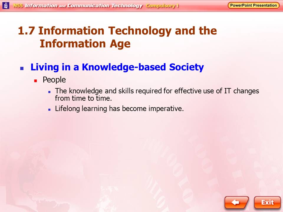 1.7 Information Technology and the Information Age