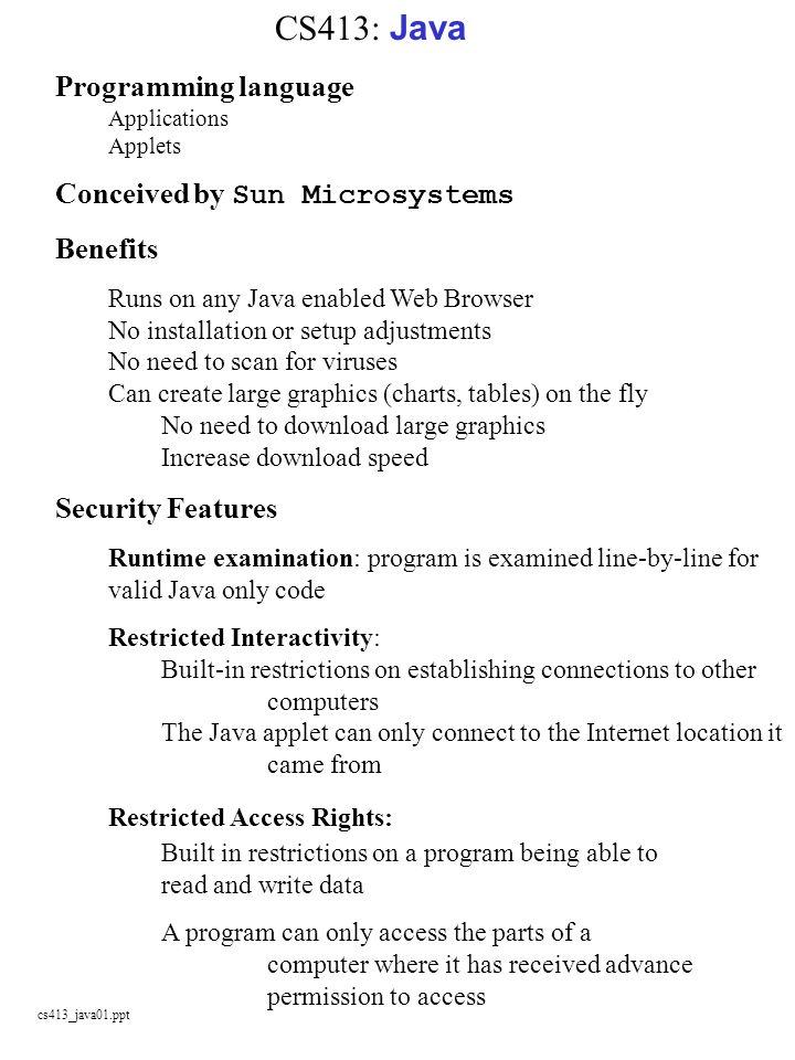 CS413: Java Programming language Applications Applets - ppt download