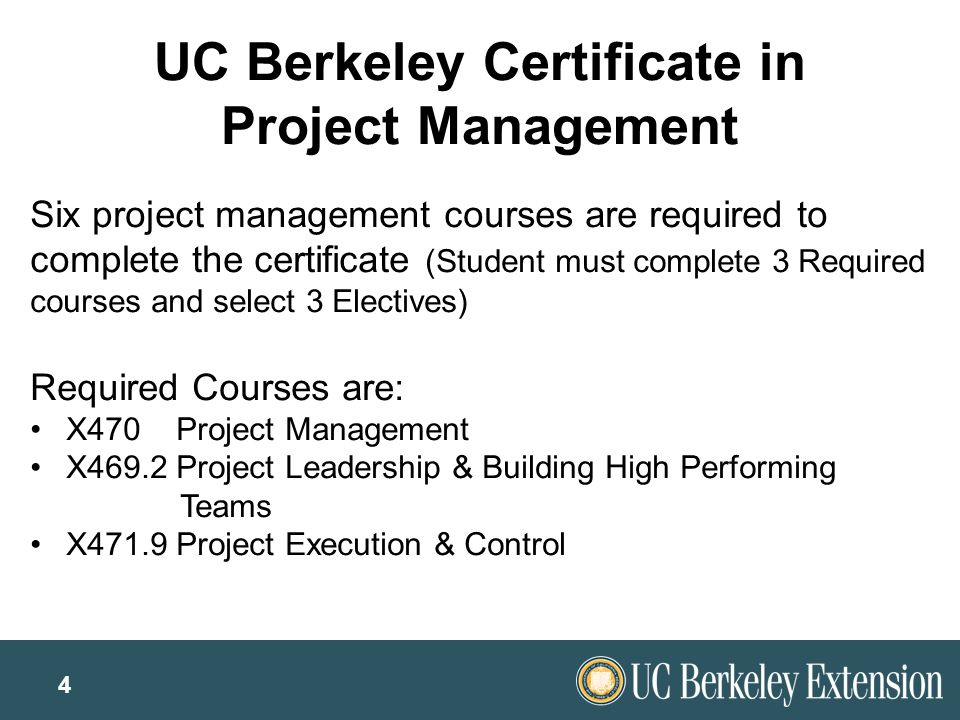 Berkeley Project Management Certificate Image Collections