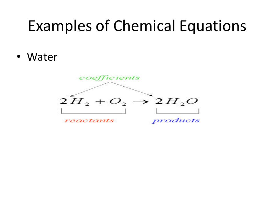 Examples of Chemical Equations