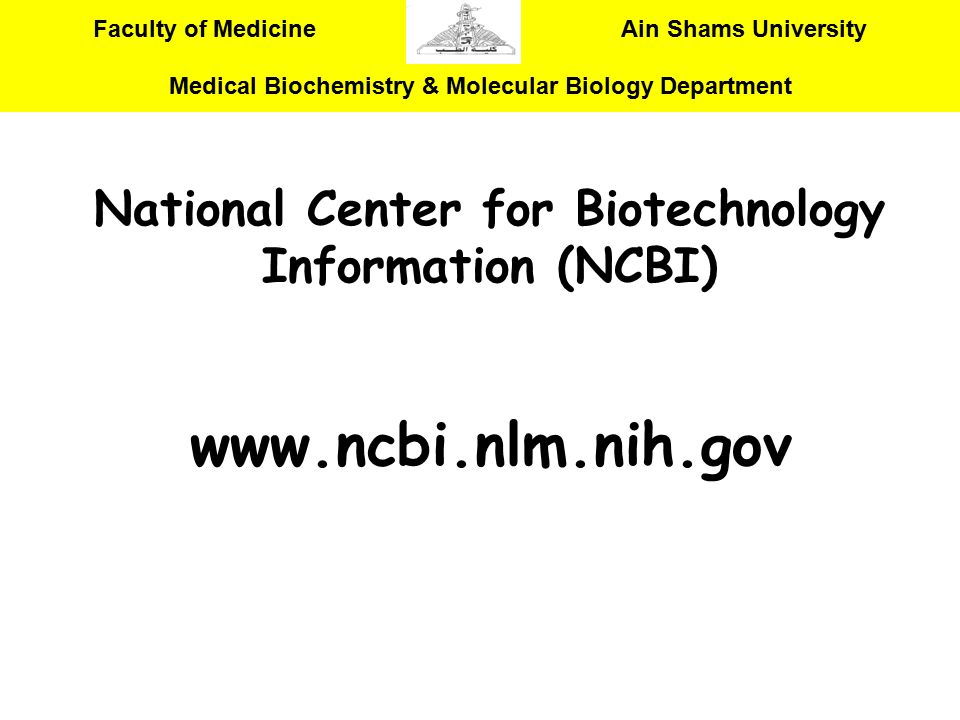 National Center for Biotechnology