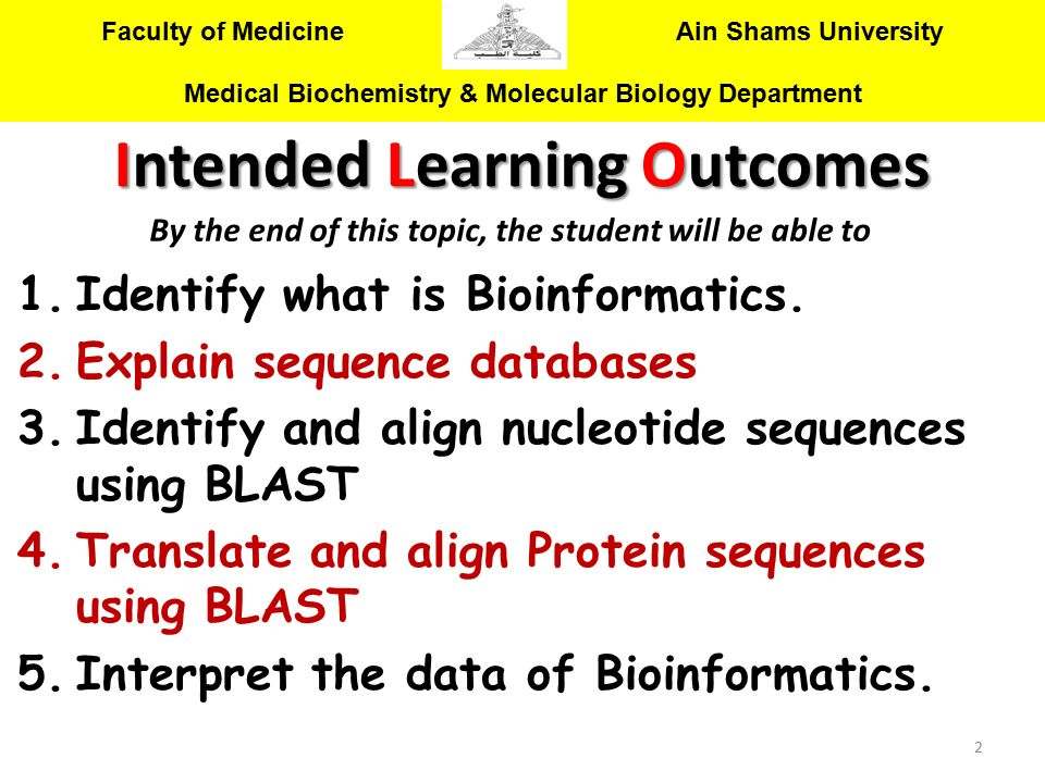 Identify what is Bioinformatics. Explain sequence databases