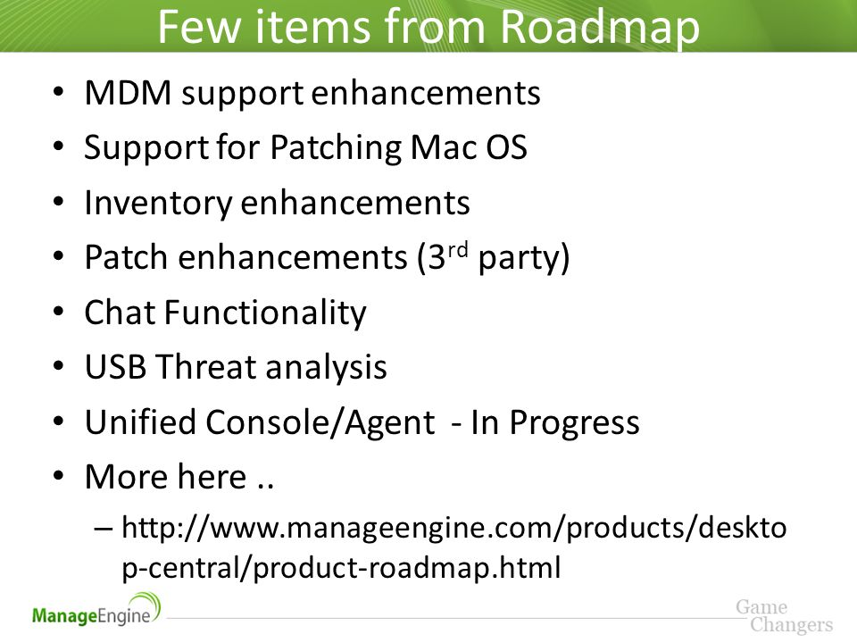 Training on ManageEngine Desktop Central - ppt video online