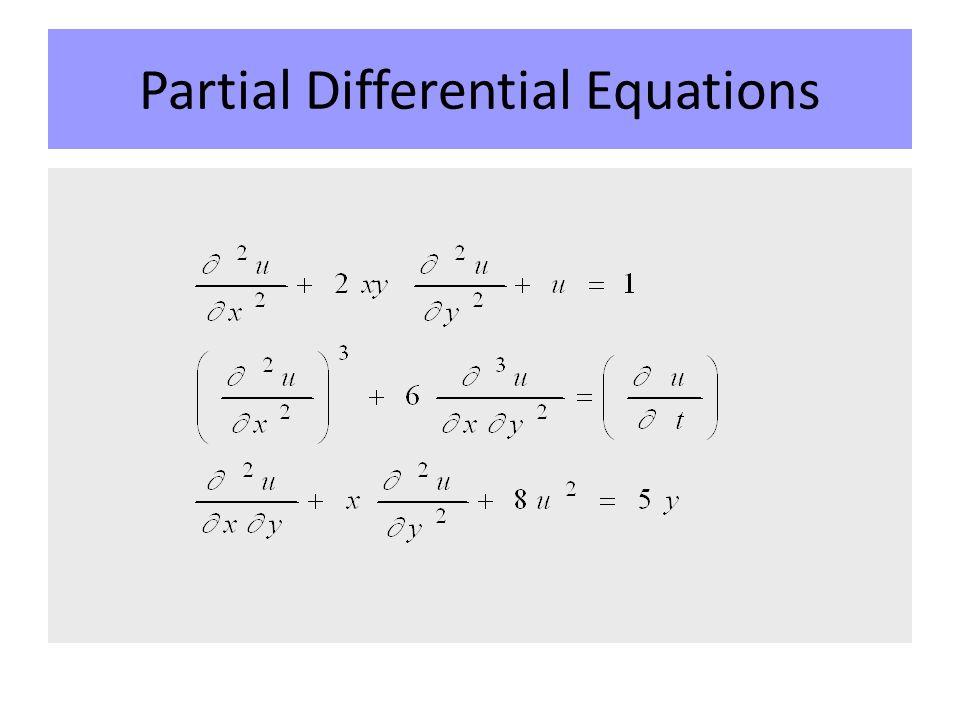 Scientific Computing Partial Differential Equations