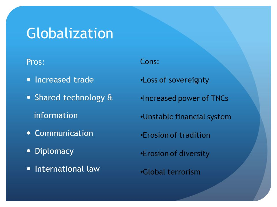 Pros and cons of transnational corporations