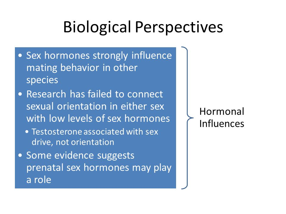 Biological evidence sexual orientation