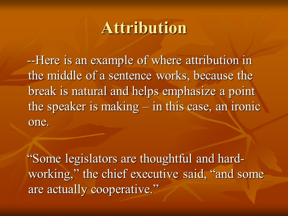 Attribution and quotation ppt video online download.