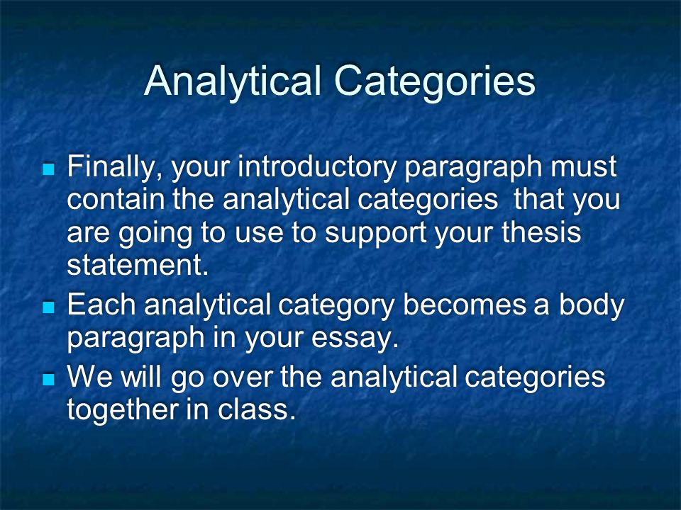 analytical category