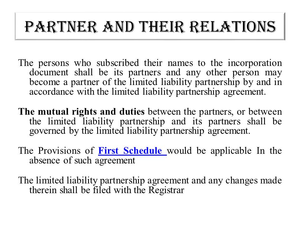 The Limited Liability Partnership An Alternative Vehicle Ppt Download