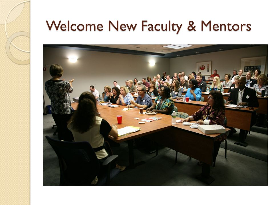 Welcome New Faculty & Mentors
