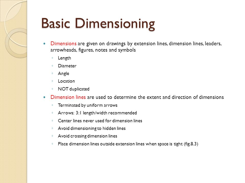 Engineering Drawing And Design Chapter 10 Basic Dimensioning Ppt