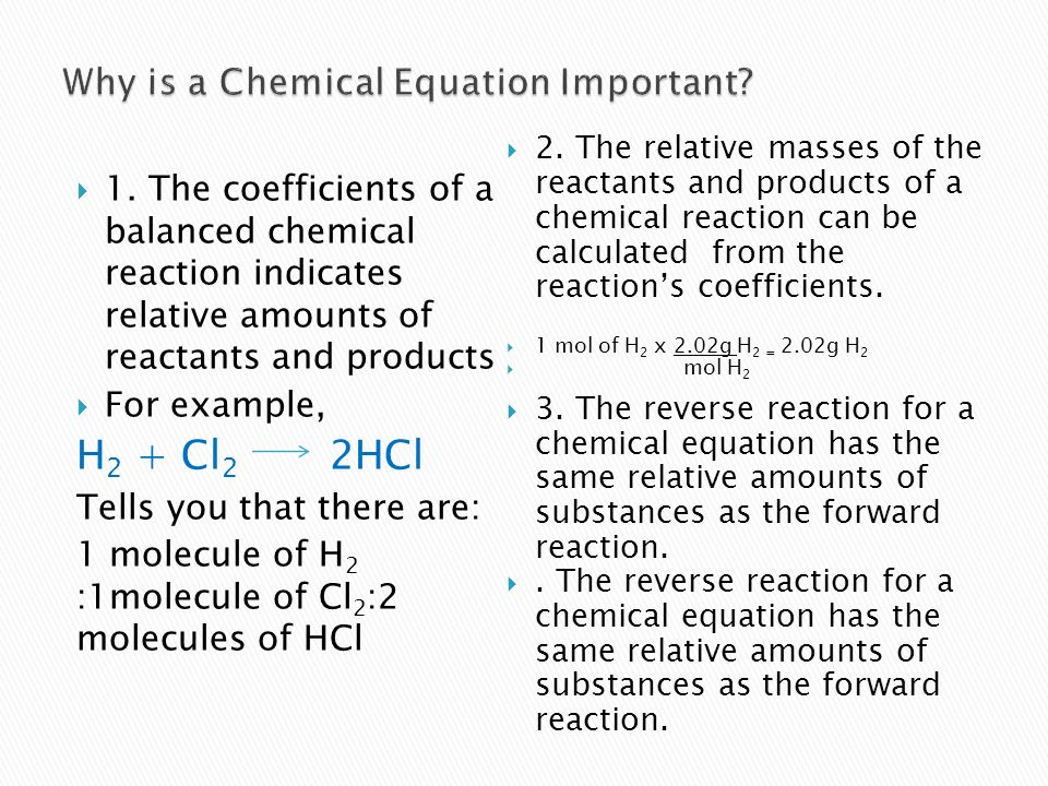Why is a Chemical Equation Important