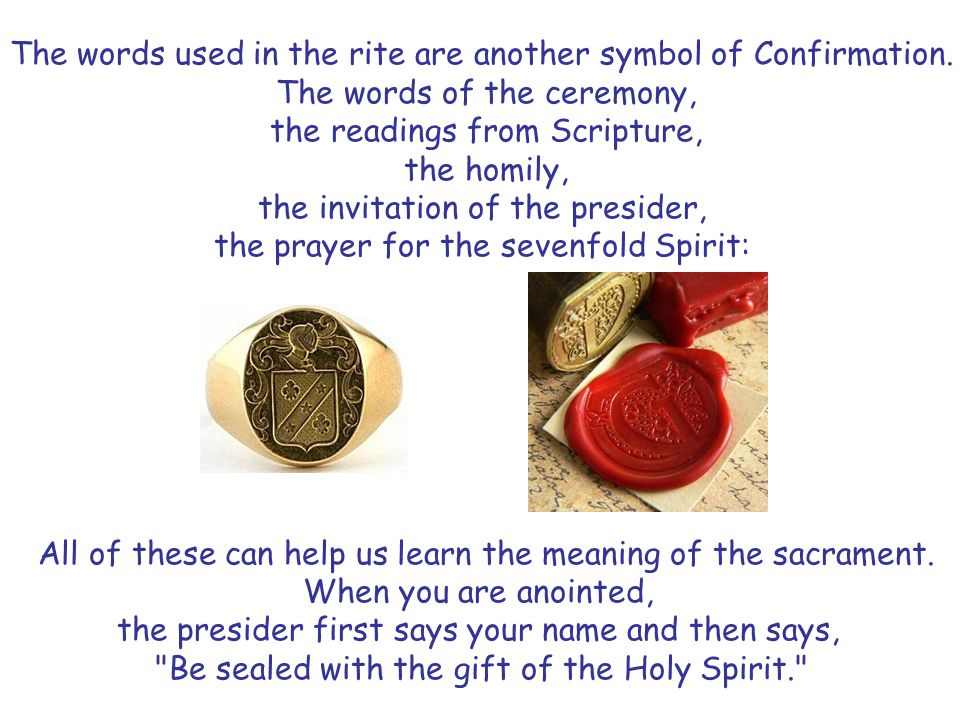 Understanding The Sacrament Of Confirmation Ppt Video Online Download