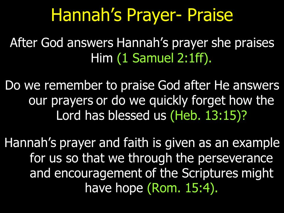 Hannah's Prayer  - ppt video online download