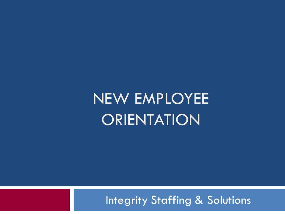 new employee orientation ppt download