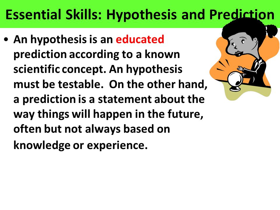 Essential Skills: Hypothesis and Prediction