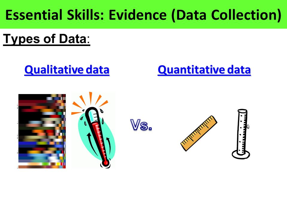 Essential Skills: Evidence (Data Collection)
