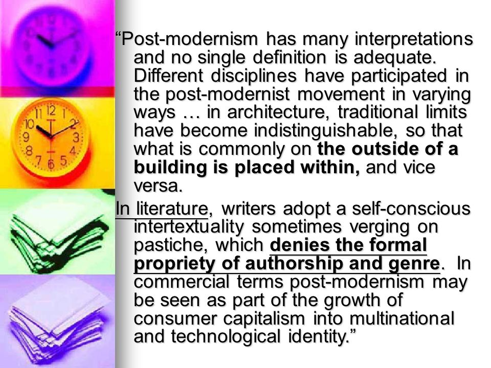 postmodernist movement