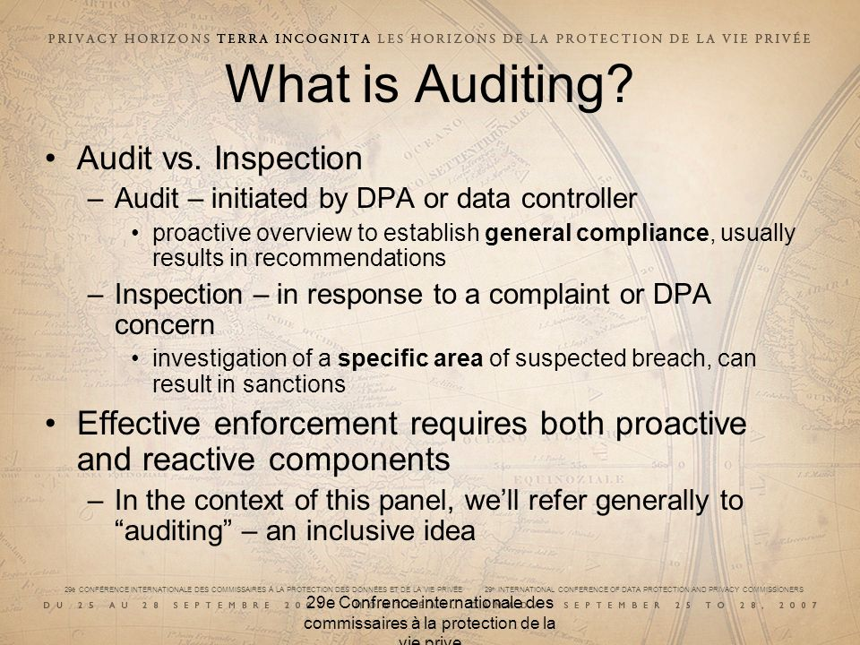 What is Auditing Audit vs. Inspection