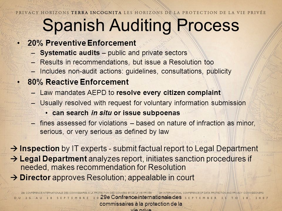 Spanish Auditing Process