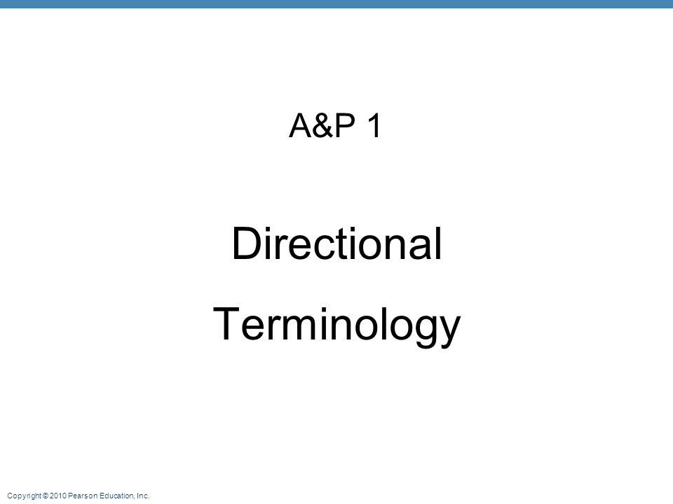 A&P 1 Directional Terminology