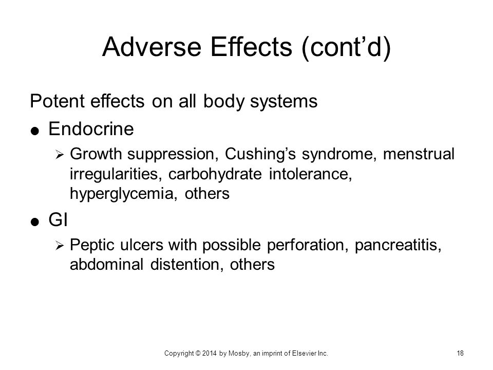 Adverse Effects (cont'd)